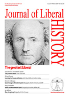 Cover of Journal of Liberal History 57