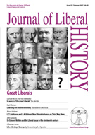 Cover of Journal of Liberal History 55