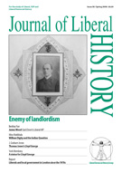 Cover of Journal of Liberal History 58