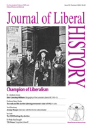 Cover of Journal of Liberal History 59