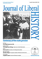 Cover of Journal of Liberal History 60