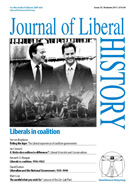 Cover of Journal of Liberal History 72 – Special issue: The Liberal experience of coalition government