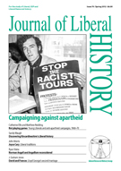 Cover of Journal of Liberal History 74
