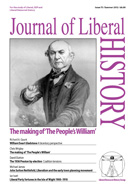 Cover of Journal of Liberal History 75