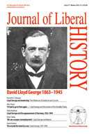 Cover of Journal of Liberal History 77 – Special issue: David Lloyd George