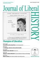 Cover of Journal of Liberal History 78