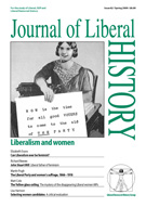 Cover of Journal of Liberal History 62 – Special issue: Women and Liberalism