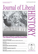 Cover of Journal of Liberal History 87 – Special issue: the Liberal Party and the First World War