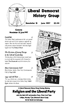 Cover of Liberal Democrat History Group Newsletter 15