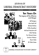 Cover of Journal of Liberal Democrat History 18 – Special issue: The Legacy of the Alliance and Merger