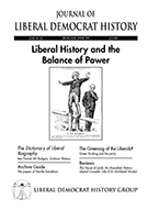 Cover of Journal of Liberal Democrat History 21