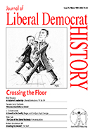 Cover of Journal of Liberal Democrat History 25 – Special issue: Crossing the Floor