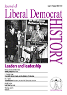 Cover of Journal of Liberal Democrat History 27
