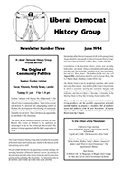 Cover of Liberal Democrat History Group Newsletter 3