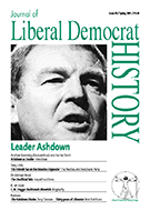 Cover of Journal of Liberal Democrat History 30
