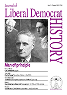 Cover of Journal of Liberal Democrat History 31