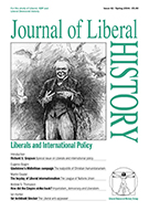 Cover of Journal of Liberal History 42 – Special issue: Liberals and International Policy