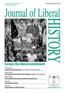 Cover of Journal of Liberal History 98 – Special issue: The Liberal commitment to Europe