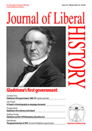 Cover of Journal of Liberal History 101 – Special issue: Gladstone's first government