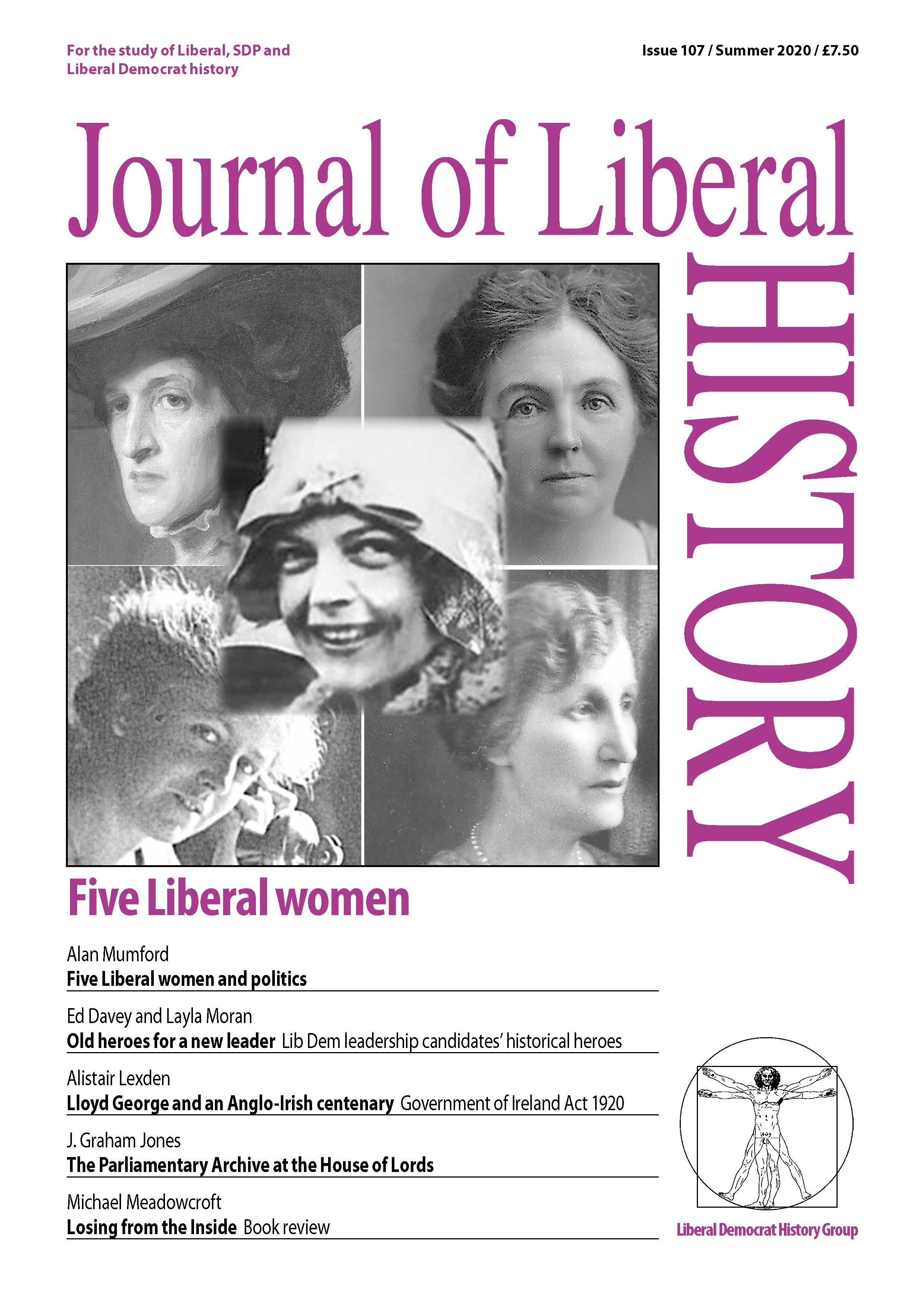 Cover of Journal of Liberal History 107